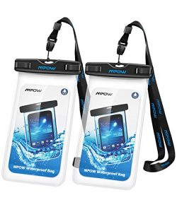 Mpow Universal Waterproof Case, IPX8 Waterproof Phone Pouch Dry Bag Compatible iPhone X/8/8plus/ ...