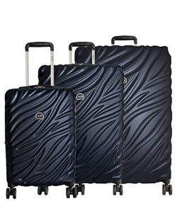 Delsey Paris Alexis Luggage Set 3 Piece Lightweight Hardside Spinner Suitcase (21″/25&#824 ...