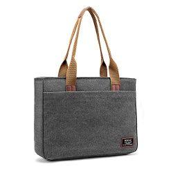 Laptop Tote Bag, DTBG 15.6 Inch Women Shoulder Bag Canvas Briefcase Casual Handbag Laptop Case F ...
