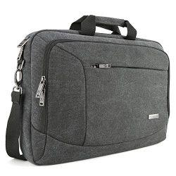 15.6 inch Laptop Messenger Case, Evecase 15.6″ Canvas Shoulder Bag – Dark Grey w/Han ...