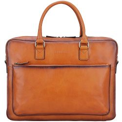 Banuce Vintage Full Grain Leather Briefcase for Men Tote Business Messenger Bag 14″ Laptop ...