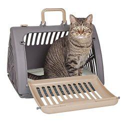 SportPet Designs Foldable Travel Cat Carrier – Front Door Plastic Collapsible Carrier