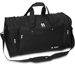 21″ Black Gym Travel Overnight Duffle Bag