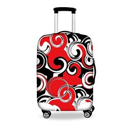 FOR U DESIGNS 26-30 Inch Large Cool Red Black Drama Pattern Suitcase Protective Luggage Case Cov ...