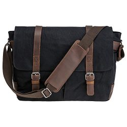 "Waterproof Waxed Canvas 15″ Macbook pro/14"" Laptop Messenger Bag Men Business Vintag ..."