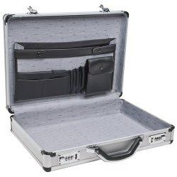 RoadPro SPC-931R 17.5″ x 4″ x 13″ Silver Aluminum Briefcase