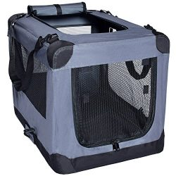 Arf Pets Dog Soft Crate 27 Inch Kennel for Pet Indoor Home & Outdoor Use – Soft Sided  ...