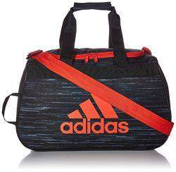 adidas Diablo Small Duffel Bag, Black Looper/Hi-Res Red/Black, One Size