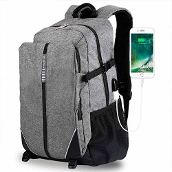 XIXOV Laptop Backpack, Travel Computer Bag Women Men, Business Backpack USB Charging Port Fit Un ...