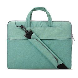 Lacdo 15-15.6 Inch Waterproof Fabric Laptop Shoulder Bag Laptop Sleeve Bag Notebook Case for Mac ...