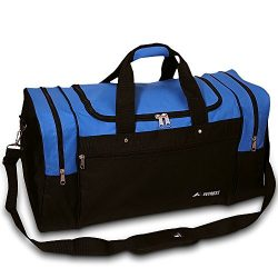 21″ Royal Blue & Black Gym Travel Overnight Duffle Bag