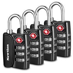 Newtion TSA Approved Luggage Locks,Open Alert Indicator,3 Digit Combination Padlock Codes with A ...