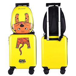Kids Luggage Backpack Set, Lightweight, Hard Shell Carry On Suitcase