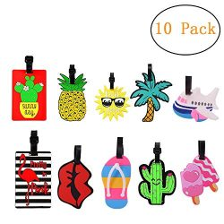 Luggage Tags Luggage Tages for Women Luggage Tags for Kids with Genuine Strap Flexible Name ID L ...