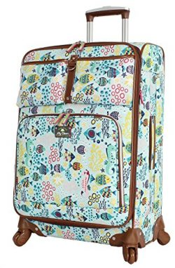 Lily Bloom Luggage Carry On Expandable Design Pattern Suitcase For Woman With Spinner Wheels (Aq ...
