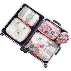 Belsmi 6 Set Packing Cubes With Shoe Bag – Compression Travel Luggage Organizer (Series A  ...