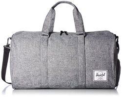 Herschel Supply Co. Novel Duffel Bag 1-Piece, Raven Crosshatch, One Size