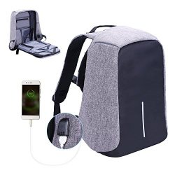 Laptop Backpack business anti-theft waterproof travel computer backpack with USB charging port c ...