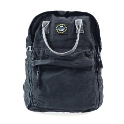 KISS GOLD(TM) Vintage Canvas Backpack Travel Daypack Schoolbag Bookbag Floppy, Navy Blue