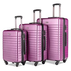 Luggage Sets Spinner Hard Shell Suitcase Lightweight Luggage-3 Piece(20″ 24″ 28̸ ...