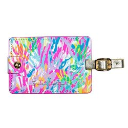 Lilly Pulitzer Girls Luggage Tag, Sparkling Sands, One Size