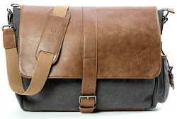 Vetelli Laptop/Computer/Messenger/Tablet Bag with scratch protection lining for laptops or Macbo ...