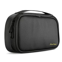 ProCase Travel Electronics Cable Organizer Bag, Double Layer Thicken Portable Gadget Accessories ...