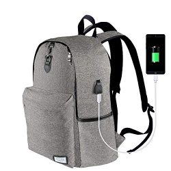 Laptop Backpack-ONSON Laptop/Notebook Backpack with USB Charging Port Water Resistant Backpack S ...