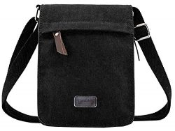 Berchirly Small Vintage Canvas Messenger Cross body bag Pack Organizer for Travel Hiking Climbing