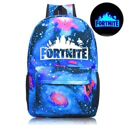 Gash Hao Fortnite Backpack College School Bookbag Anti Theft Luminous Travel Laptop Bag