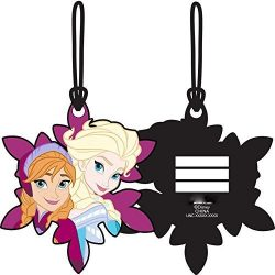 Frozen Sisters Elsa Anna Laser Cut Luggage Tag Backpack ID 4 1/2″