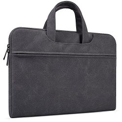 14-15 Inch Leather Laptop Brifecase Bag for MacBook Pro 15 Inch A1707, HP Stream 14/Pavilion X36 ...