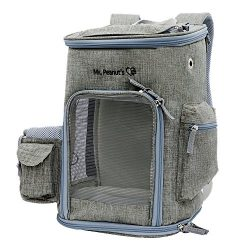 Backpack Pet Carrier, Airline Approved Soft Sided Tote for Cats & Small Dogs, includes Premi ...