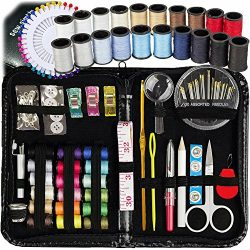 SEWING KIT, Over 130 DIY Premium Sewing Supplies, Mini sewing kit, 38 Spools of Thread – 2 ...