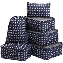 LANGRIA Foldable Packing Cubes Set for Travel Luggage Suitcase Bag Organizers for Underwear Shir ...