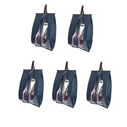 KinHwa Travel Shoe Bags Portable with Visible Window Storage Bags for Shoes Space Saving Set of  ...