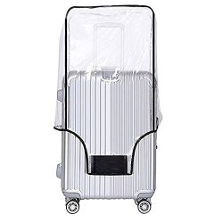Luggage Cover 26 Inch Suitcase Cover Rolling Luggage Cover Protector Clear PVC Suitcase Cover fo ...