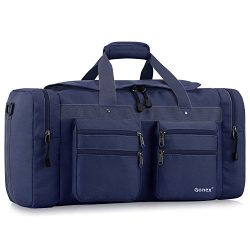 Gonex 45L Travel Duffel, Gym Sports Luggage Bag Water-resistant Many Pockets(Blue)
