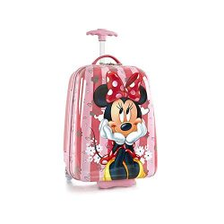 Disney Minnie Mouse Hard Shell Luggage for Kids – 18 Inch Carry-on Suitcase