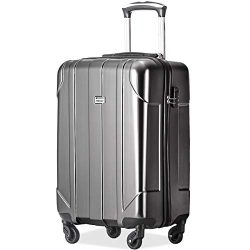 Merax P.E.T Luggage Light Weight Spinner Suitcase 20inch 24inch and 28 inch Available (20-Carry  ...