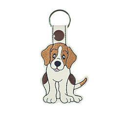 Beagle Dog Key Fob or Luggage Tag