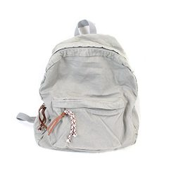 MiCoolker College School Backpack for Women Men Leisure Canvas Denim Travel Backpacks Purse for  ...