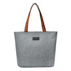 Women Fashion Solid Color Canvas Shoulder Bag Solid Totes Crossbody Bag, LLguz Fashion Elegant G ...