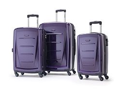 "Samsonite Winfield 2 Fashion 3 Piece Luggage Set ""Purple"""