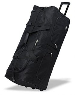 40″ Black Heavy Duty Polyester Large Rolling Duffel Bags/travel/duffle on Wheel