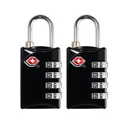 TSA Luggage Locks 2 Pack 4 Digit Combination Steel Approved for Travel Accessories Travel Baggag ...