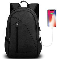 "Unisex Laptop Backpack for School & Travel, Tocode Fits 17"" Computer Durable Casual An ..."