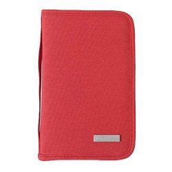 Portable Waterproof Passport Wallet Travel Document Organizer Holder – Red