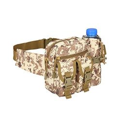 Teammao Tactical Waist Pack Fanny Pack Military Waist Bag Water Bottle Holder Cycling Camping Hi ...