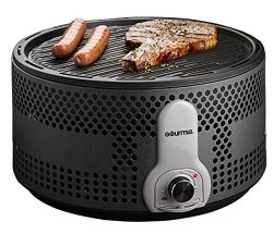 Gourmia GBQ330 Portable Charcoal Electric BBQ Grill – Great for Camping – 90% Smoke  ...